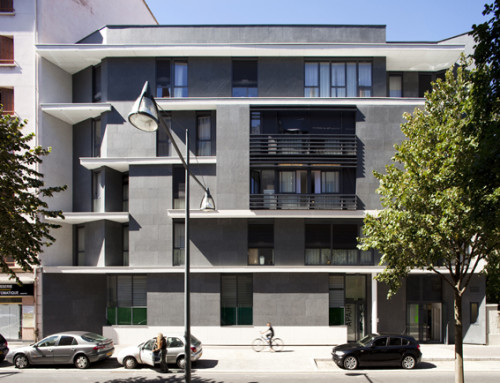 Foyer de vie et d'hebergement APAJH à Villeurbanne association APAJH pour handicapés mentaux OPAC du Rhône maître d'ouvrage